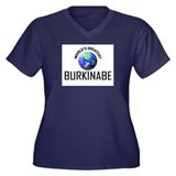 World's Greatest BURKINABE Women's Plus Size V-Nec