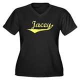 Jacey Vintage (Gold) Women's Plus Size V-Neck Dark