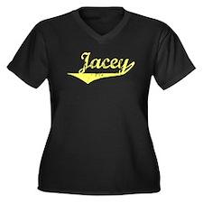 Jacey Vintage (Gold) Women's Plus Size V-Neck Dark