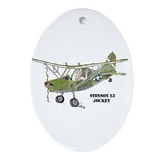 Stinson L5 Oval Ornament
