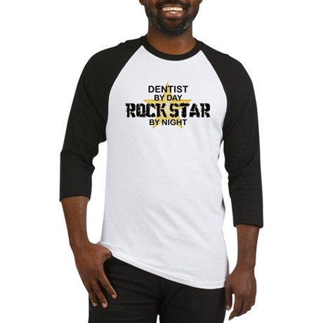 Dentist RockStar by Night Baseball Jersey