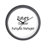 Future Outdoor Pursuits Manager Wall Clock