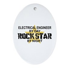 Electrical Engineer RockStar Oval Ornament