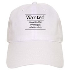 WANTED MEANINGFUL OVERNIGHT R Baseball Cap