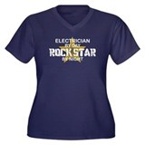 Electrician RockStar by Night Women's Plus Size V-