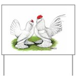 White d'Uccle Bantams Yard Sign