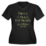 GOAL - Get Outside And Live Women's Plus Size V-Ne