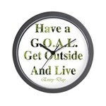 GOAL - Get Outside And Live Wall Clock
