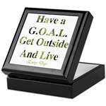 GOAL - Get Outside And Live Keepsake Box