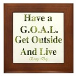 GOAL - Get Outside And Live Framed Tile