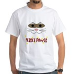 Ferret Power White T-Shirt