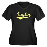 Jaylin Vintage (Gold) Women's Plus Size V-Neck Dar