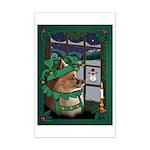 Cutest Pomeranian Christmas Dog Mini Poster Print