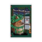 Cutest Christmas Dog Rectangle Sticker