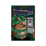 Cutest Christmas Dog Rectangle Magnet (10 pack)