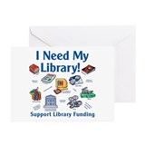 I Need My Library Greeting Cards (Pk of 10)