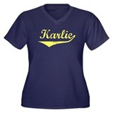 Karlie Vintage (Gold) Women's Plus Size V-Neck Dar