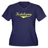 Katelynn Vintage (Gold) Women's Plus Size V-Neck D