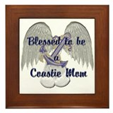 Blessed Coastie Mom Framed Tile