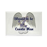 Blessed Coastie Mom Rectangle Magnet (10 pack)