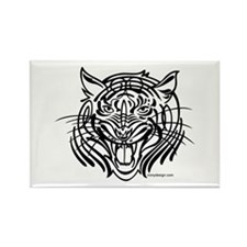 Tribal tiger Rectangle Magnet (100 pack)