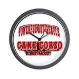 Cane Corso Power Red Wall Clock