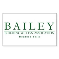 Bailey Bldg & Loan Rectangle Decal