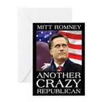 Mitt Romney Crazy Greeting Card