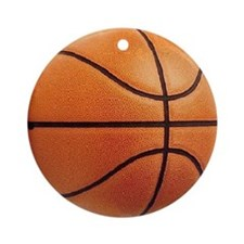 Basketball Sports Christmas Ornament -Round
