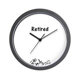 Unique Funny retirement Wall Clock