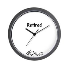 Cute Retirement Wall Clock