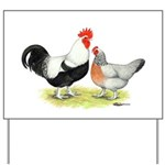 Dorking Chickens Yard Sign
