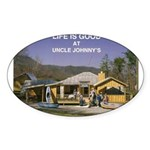 Uncle Johnny's Oval Sticker