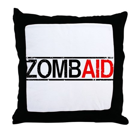 ZombAid Throw Pillow