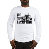 Trucker-Hammer Down-Blk Long Sleeve T-Shirt