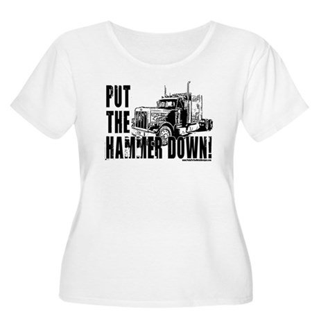 Trucker-Hammer Down-Blk Women's Plus Size Scoop Ne