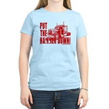 Trucker-Hammer Down-Red T-Shirt