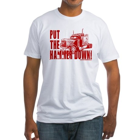 Trucker-Hammer Down-Red Fitted T-Shirt