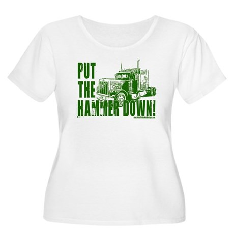 Trucker-Hammer Down-Grn Women's Plus Size Scoop Ne