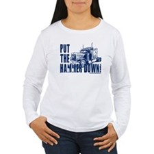 Trucker-Hammer Down-Blue T-Shirt