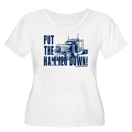 Trucker-Hammer Down-Blue Women's Plus Size Scoop N