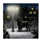 FLAT COATED RETRIEVER DOG Tile Coaster