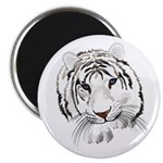 White Tiger Magnet