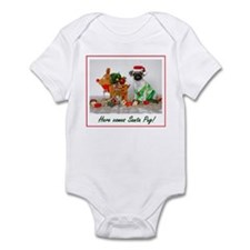 Santa Pug Infant Bodysuit