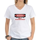 SMALL MUNSTERLANDER Womens V-Neck T-Shirt
