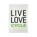 Live Love Cycle Rectangle Magnet (100 pack)