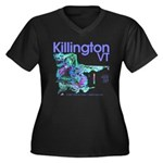 Killington Resort Women's Plus Size V-Neck Dark T-