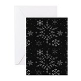 Snowflakes Cards (black/10pk)