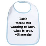 Faith means not wanting to kn Bib