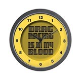Drag Racing Tire Wall Clock